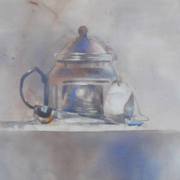 Earl Grey, watercolor on plate bristol