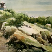 Cape Porpoise, ME, watercolor on cold press paper