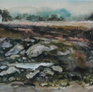 Turbat's Creek, watercolor on cold press paper