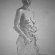 Sarong II graphite sketch on paper