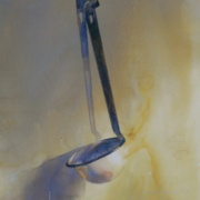 White Ladle, watercolor on plate bristol paper