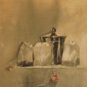 Morning Still Life, watercolor on plate bristol